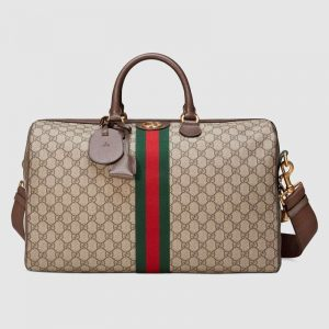 Gucci GG Unisex Ophidia GG Medium Carry-On Duffle-Brown