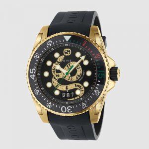 Gucci Men Gucci Dive Watch 45mm-Black