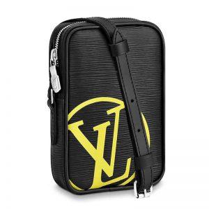 Louis Vuitton LV Unisex Danube PM Bag Black Epi Leather