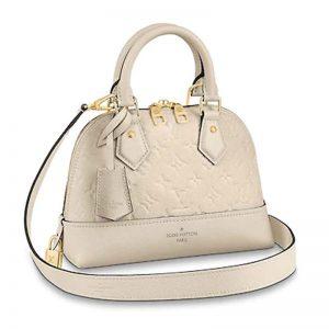 Louis Vuitton LV Women Neo Alma BB Monogram Empreinte Leather-White