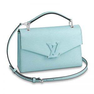 Louis Vuitton LV Women Pochette Grenelle Handbag Epi Grained Leather-Aqua