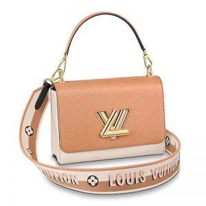Louis Vuitton LV Women Twist MM Epi Grained Cowhide Leather-Beige