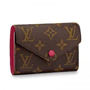 Louis Vuitton LV Women Victorine Wallet in Monogram Coated Canvas-Rose