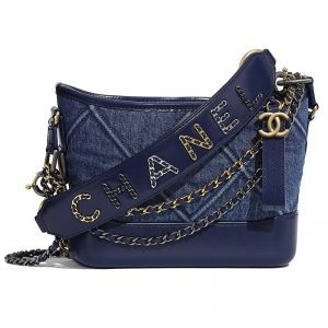 Chanel Women Chanel's Gabrielle Small Hobo Bag Denim Tweeds & Fabrics