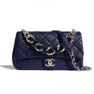 Chanel Women Large Flap Bag Lambskin Resin & Gold-Tone Metal