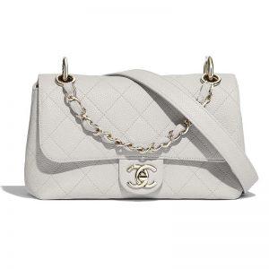 Chanel Women Small Flap Bag Grained Calfskin & Gold-Tone Metal