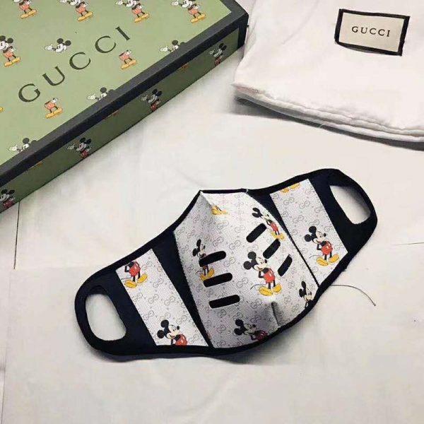 Gucci GG Unisex Disney Gucci Facial Mask Double G Supreme Canvas-White