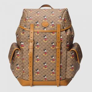 Gucci GG Unisex Disney x Gucci Medium Backpack BeigeEbony