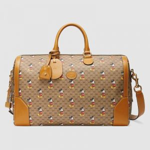 Gucci GG Unisex Disney x Gucci Medium Carry-On Duffle-Brown