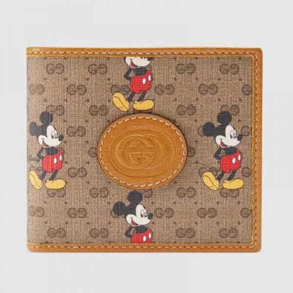 Gucci GG Unisex Disney x Gucci Wallet GG Supreme Canvas-Brown