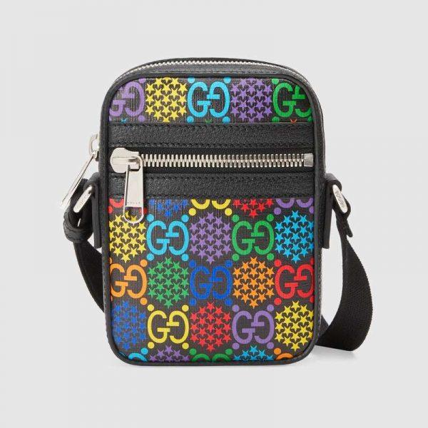 Gucci GG Unisex GG Psychedelic Shoulder Bag Psychedelic Supreme Canvas