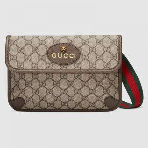 Gucci GG Unisex Neo Vintage GG Supreme Belt Bag-Beige