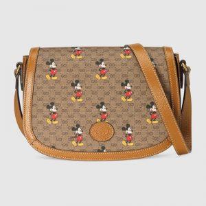 Gucci GG Women Disney x Gucci Small Shoulder Bag GG Supreme Canvas