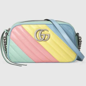 Gucci GG Women GG Marmont Small Shoulder Bag Diagonal Matelassé