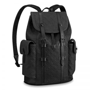 Louis Vuitton LV Men Christopher PM Backpack Taurillon Cowhide Leather
