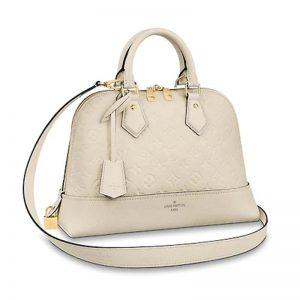 Louis Vuitton LV Women Neo Alma PM Handbag Embossed Monogram Leather-White