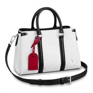 Louis Vuitton LV Women Soufflot BB in Epi Leather-White