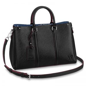 Louis Vuitton LV Women Soufflot MM in Epi Leather-Black