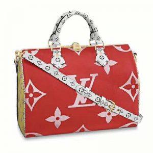 Louis Vuitton LV Women Speedy Bandoulière 30 in Monogram Canvas-Red