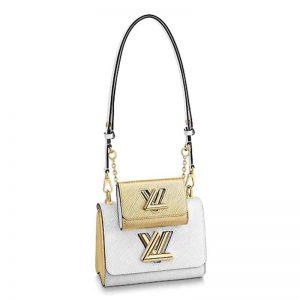 Louis Vuitton LV Women Twist PM and Twisty Epi leather-White