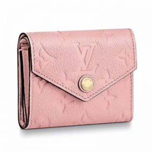 Louis Vuitton LV Women Victorine Wallet in Monogram Empreinte Leather-Pink