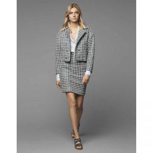 Chanel Women Blouse Cotton & Silk Voile White & Black