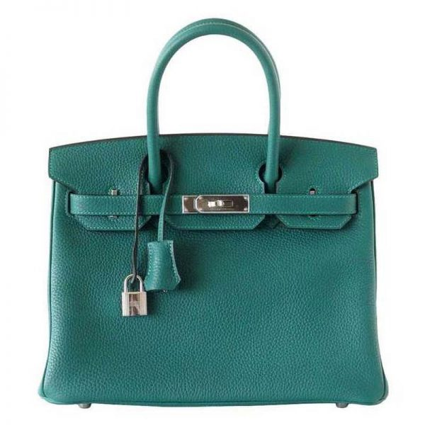 Hermes Birkin 25 Bag in Togo Leather with Gold Hardware-Green