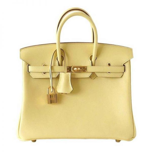 Hermes Birkin 25 Bag in Togo Leather with Gold Hardware-Yellow