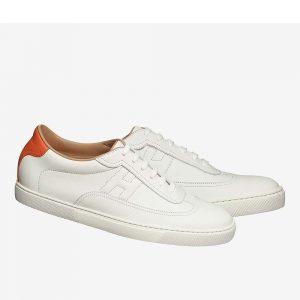 Hermes Unisex Shoes Quicker Sneaker-White