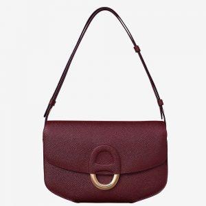 Hermes Women Cherche-Midi 25 Bag in Epsom Calfskin-Purple