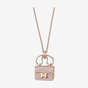 Hermes Women Constance Amulette Pendant Jewelry Pink Gold