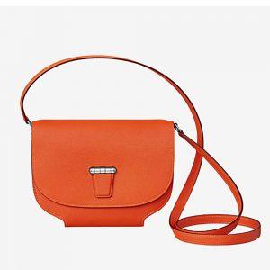 Hermes Women Convoyeur Mini Bag in Calfskin-Orange