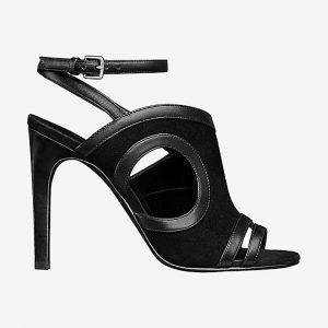 Hermes Women Shoes Rafaella Sandal 10.5cm Heel-Black