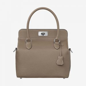 Hermes Women Toolbox 26 Bag in Calfskin Leather-Silver