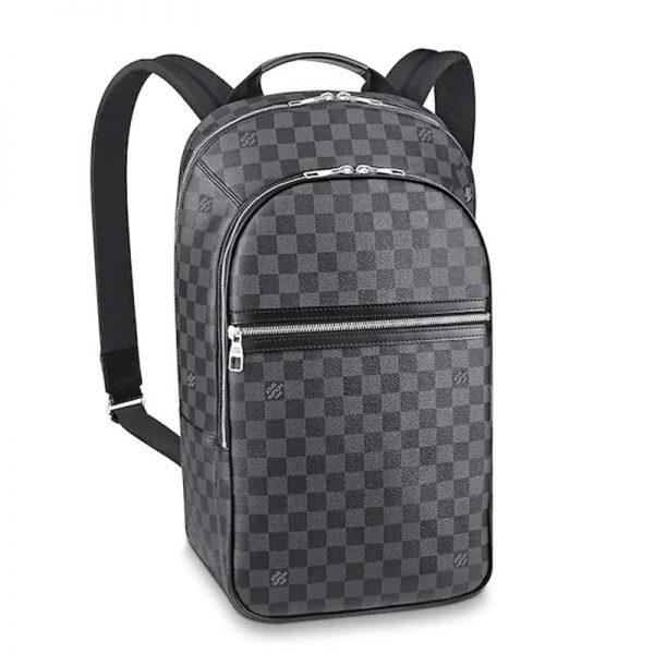 Louis Vuitton LV Men Michael Backpack Damier Graphite Canvas-Grey