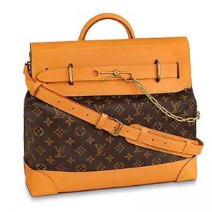 Louis Vuitton LV Men Steamer PM Bag Monogram Canvas-Brown
