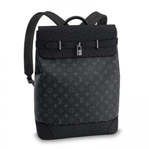 Louis Vuitton LV Unisex City Steamer Backpack Monogram Eclipse Canvas
