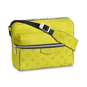 Louis Vuitton LV Unisex Outdoor Messenger Taiga Leather Monogram Canvas-Yellow