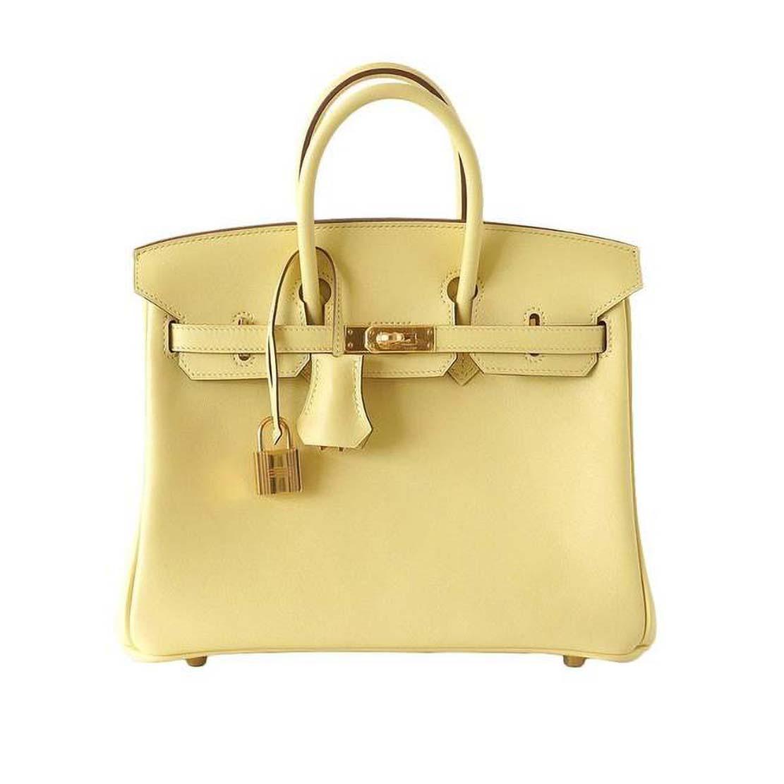 Hermes Birkin 25 Bag in Togo Leather with Gold Hardware