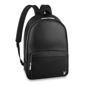 Louis Vuitton LV Unisex Alex Backpack in Taiga Leather-Black