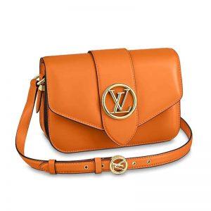 Louis Vuitton LV Women LV Pont 9 Handbag Smooth Leather-Orange