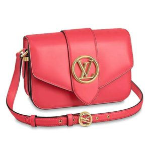 Louis Vuitton LV Women LV Pont 9 Handbag in Smooth Leather-Red