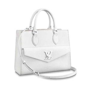 Louis Vuitton LV Women Lockme Monochrome Tote PM Soft Grained Calfskin