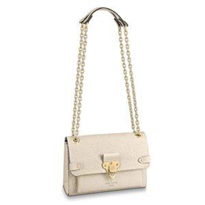 Louis Vuitton LV Women Vavin BB Monogram Empreinte Leather-Beige