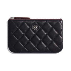 Chanel Women Classic Mini Pouch in Lambskin Leather-Black