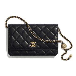 Chanel Women Classic Wallet On Chain in Lambskin-Black