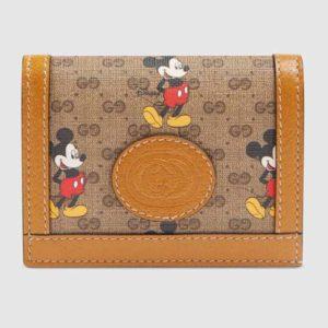 Gucci GG Unisex Disney x Gucci Card Case Wallet-Brown