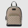 Gucci GG Unisex Eden Small Backpack BeigeEbony GG Supreme Canvas