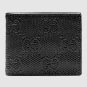 Gucci GG Unisex GG Embossed Wallet Black GG Embossed Leather