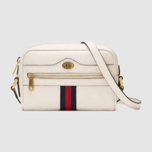 Gucci GG Women Ophidia Mini Bag Metal-Free Tanned Leather-White